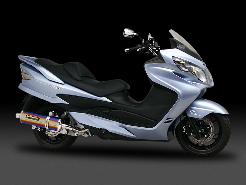SUZUKI SKYWAVE250 TYPE-SS(07-08)FULL SYSTEM STAINLESS OVAL : JMCA APPROVED