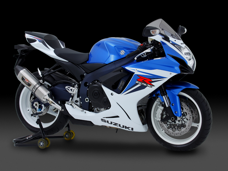 SUZUKI GSX-R600(11)SLIP-ON R-77J STAINLESS END / CARBON END : JMCA APPROVED