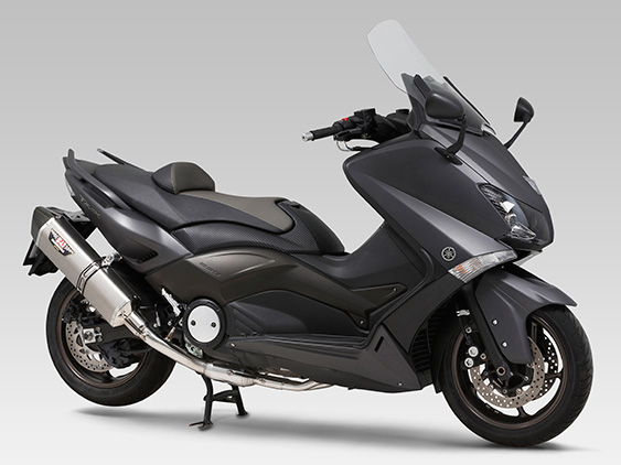 YAMAHA TMAX530FULL SYSTEM HEPTA FORCE STAINLESS END / CARBON END : EEC APPROVED