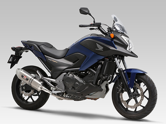 HONDA NC700X(12-: [ABS/DCT/Type LD])SLIP-ON R-77J STAINLESS END / CARBON END : JMCA APPROVED