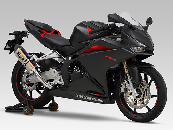 Yoshimura product site : CBR250RR(17) - SLIP-ON R-77S CARBON END : JMCA APPROVED