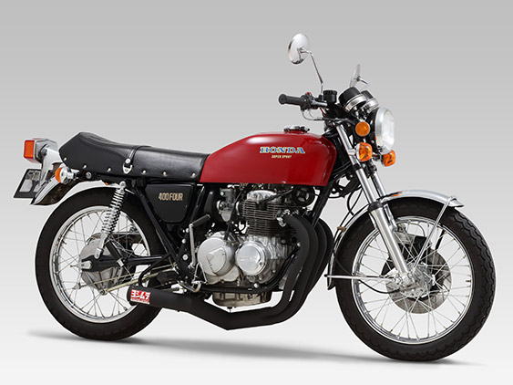 HONDA CB400FOUR (408cc: 74-77 /398cc: 76-77)FULL SYSTEM STEEL STRAIGHT CYCLONE : JMCA APPROVED