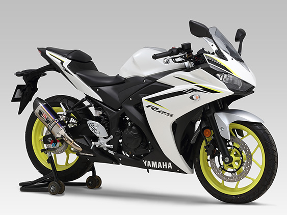 YAMAHA YZF-R25(15-18)SLIP-ON R-77S CARBON END : JMCA APPROVED