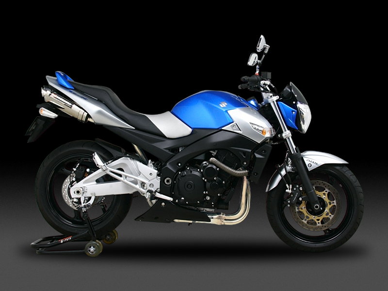 SUZUKI GSR600(06)SLIP-ON TRI-OVAL 2SILENCERS : EEC APPROVED
