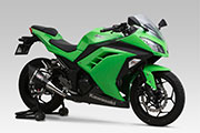 Ninja300 STREET SPORTS SLIP-ON/FULL SYSTEM R-11 SINGLE EXIT/R-77S CARBON END