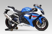 GSX-R1000 (12-) EEC SLIP-ON HEPTA FORCE STAINLESS END / CARBON END