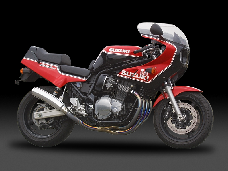 SUZUKI GS1200SS(-02)FULL SYSTEM HAND BENT TITANIUM CYCLONE : JMCA APPROVED