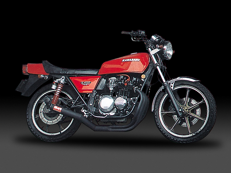KAWASAKI Z400FXFULL SYSTEM STEEL STRAIGHT CYCLONE : JMCA APPROVED