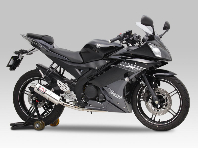 YAMAHA YZF-R15FULL SYSTEM STAINLESS TRI-OVAL : JMCA APPROVED