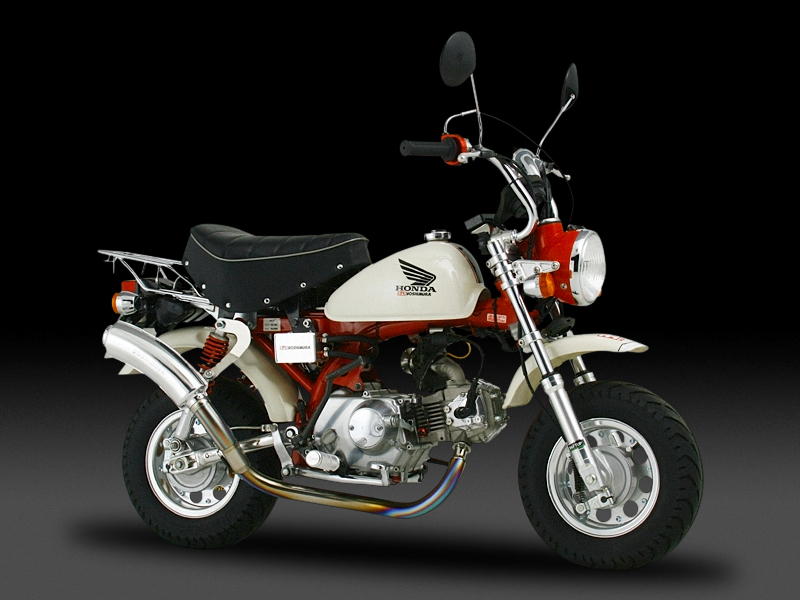 HONDA MONKEY(74-99)FULL SYSTEM HAND BENT TITANIUM CYCLONE TYPE-3 : JMCA APPROVED