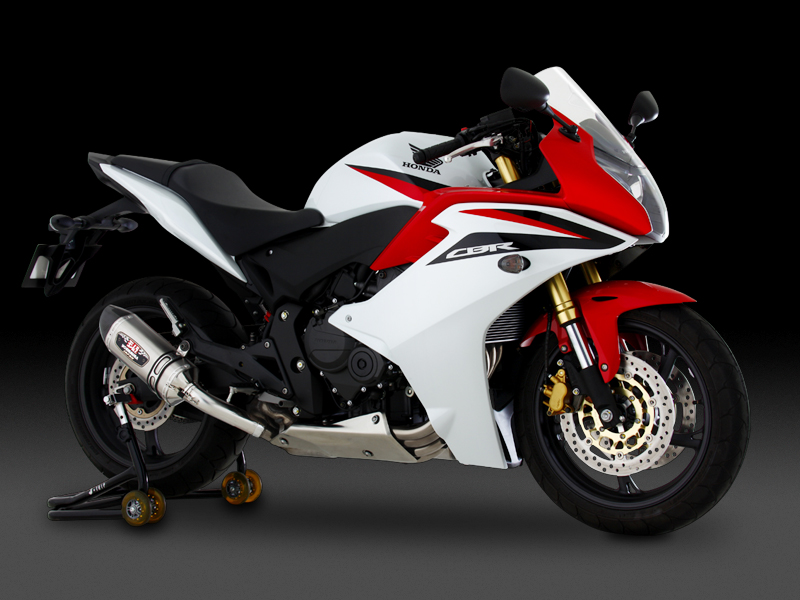 HONDA CBR600F(11-)SLIP-ON R-77S CARBON END : JMCA APPROVED