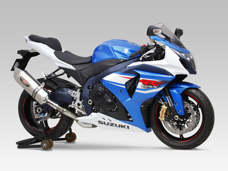 SUZUKI GSX-R1000(12-16)SLIP-ON HEPTA FORCE STAINLESS END / CARBON END : JMCA APPROVED