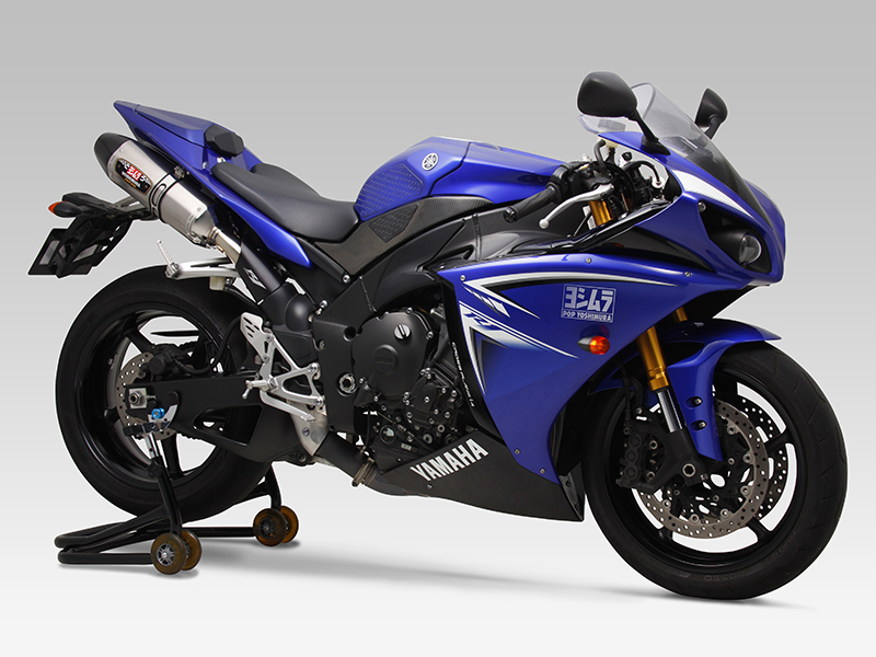 YAMAHA YZF-R1(09-13:Japan Model)SLIP-ON R-77J STAINLESS END / CARBON END : JMCA APPROVED
