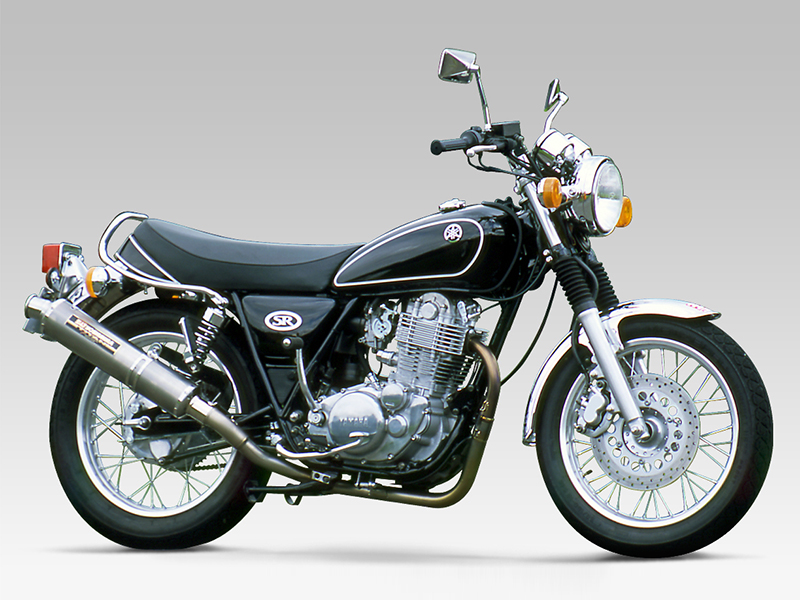 YAMAHA SR500(85-00)FULL SYSTEM TITANIUM CYCLONE : JMCA APPROVED