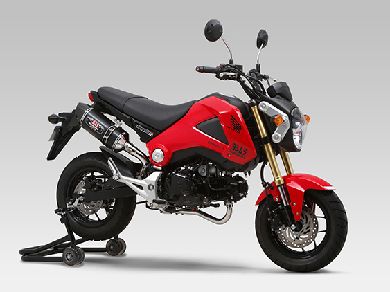 HONDA GROM/MSX125(13-15)FULL SYSTEM R-77S CARBON END : JMCA APPROVED