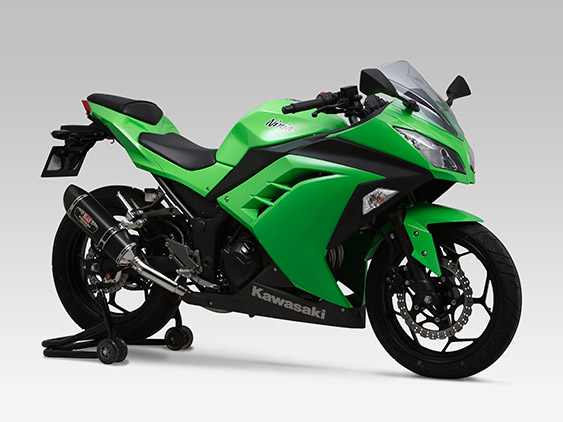 KAWASAKI Ninja300SLIP-ON R-77S CARBON END : JMCA APPROVED