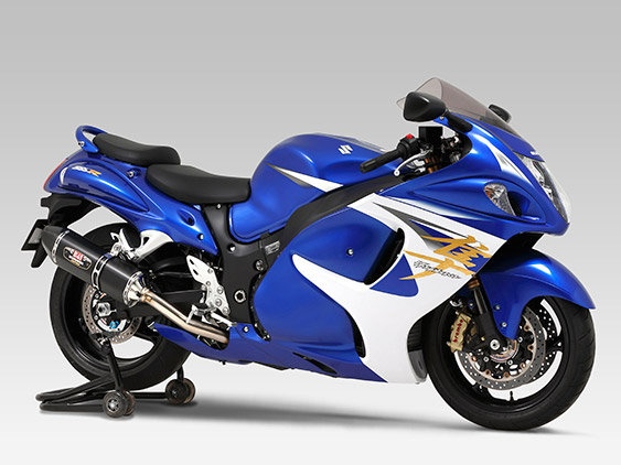 SUZUKI GSX1300R HAYABUSA(08-)SLIP-ON R-77J STAINLESS END / CARBON END : JMCA APPROVED