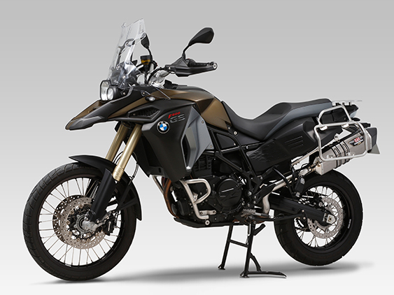 BMW F800GS ADVENTURESLIP-ON HEPTA FORCE STAINLESS END / CARBON END : JMCA APPROVED