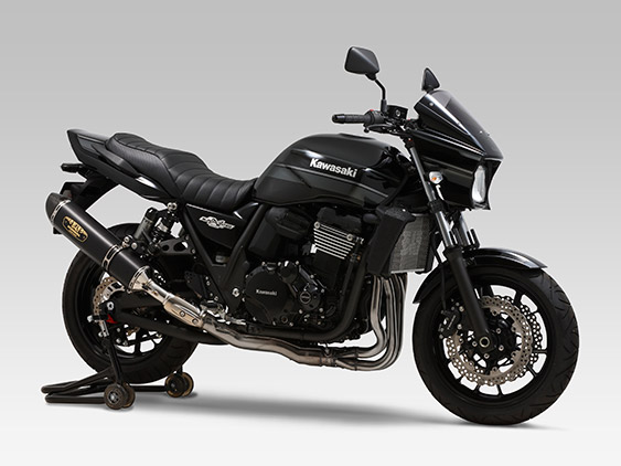 KAWASAKI ZRX1200 DAEG(09-)SLIP-ON R-77S LEPTOS : JMCA APPROVED