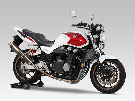 HONDA CB1300SF(08-13/14)FULL SYSTEM HAND BENT TITANIUM CYCLONE : JMCA APPROVED