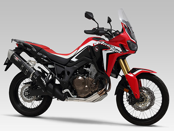 HONDA CRF1000L Africa Twin(16)SLIP-ON HEPTA FORCE STAINLESS END / CARBON END : JMCA APPROVED