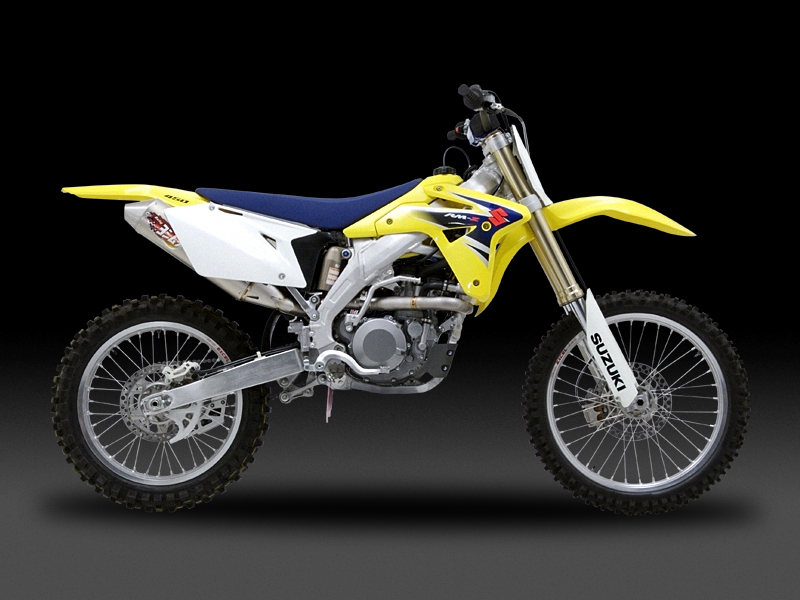 SUZUKI RM-Z450(07)OVAL CONE RACING EXHAUST SYSTEM FOR MOTOCROSS