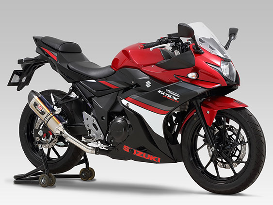 SUZUKI GSX250R(17)SLIP-ON R-77S CARBON END : JMCA APPROVED