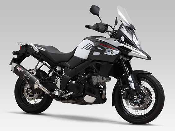 SUZUKI V-Strom1000ABS(14-17)SLIP-ON HEPTA FORCE STAINLESS END / CARBON END : JMCA APPROVED