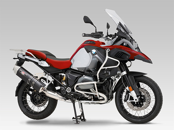 BMW R1200GS(13-17:EBL-R12NA)SLIP-ON HEPTA FORCE STAINLESS END / CARBON END : JMCA APPROVED