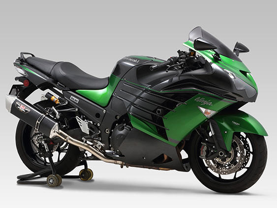 KAWASAKI Ninja ZX-14RSLIP-ON HEPTA FORCE STAINLESS END / CARBON END : JMCA APPROVED