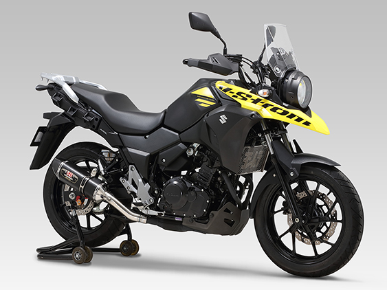 SUZUKI V-Strom250(17-19)SLIP-ON R-77S CARBON END : JMCA APPROVED