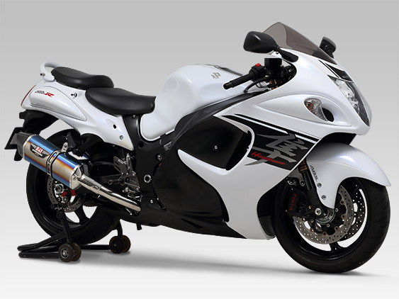 SUZUKI GSX1300R HAYABUSA(08-)SLIP-ON HEPTA FORCE STAINLESS END / CARBON END : JMCA APPROVED