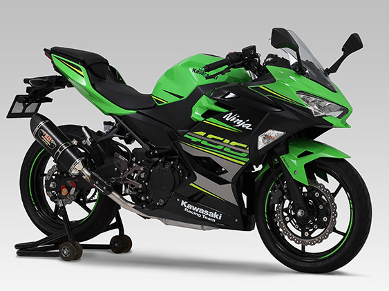 KAWASAKI Ninja250(18-20)SLIP-ON R-77S CARBON END : JMCA APPROVED