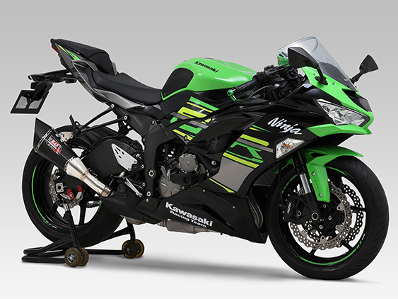 KAWASAKI Ninja ZX-6R(09-12:600cc / 13:636cc / 19-20 : 636cc)SLIP-ON R-11 SINGLE EXIT : JMCA APPROVED