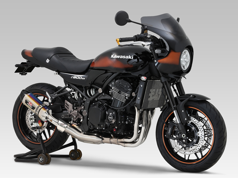 KAWASAKI Z900RS CAFE(18-21)Slip-On R-77Sサイクロン EXPORT SPEC 政府認証