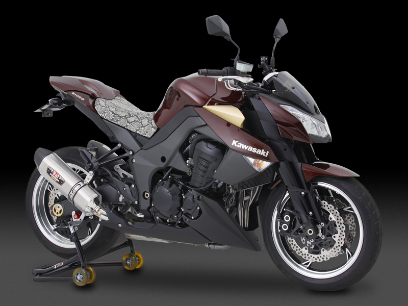 KAWASAKI Ninja1000SLIP-ON R-77J STAINLESS END / CARBON END : EEC APPROVED
